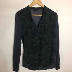 Babaton with silk blouse top